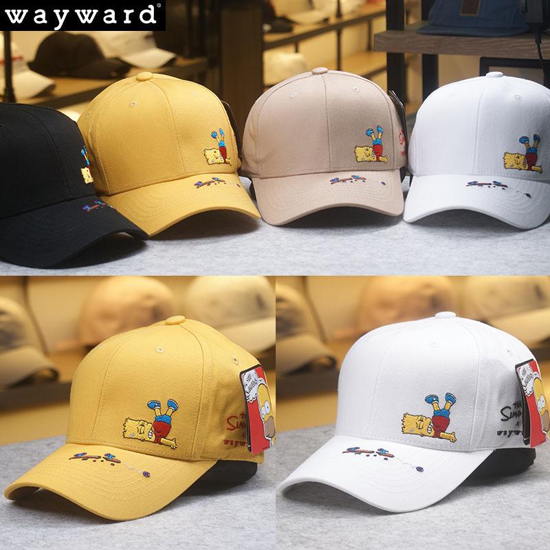 辛普森棒球帽男女韩国代购帽硬顶有型可爱百搭SIMPSON韩版鸭舌帽