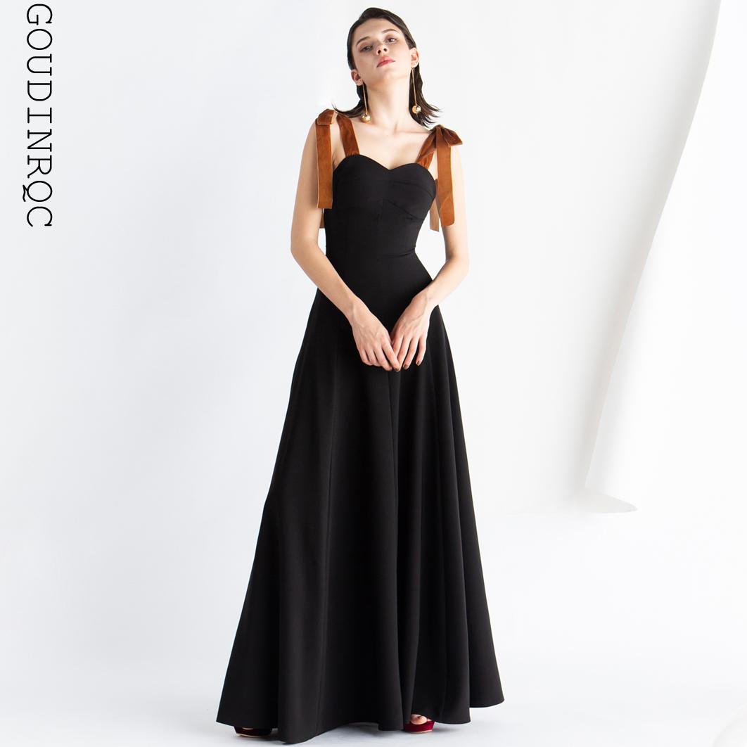 358.00元包邮goudinrqc /古典青春黑色晚礼服
