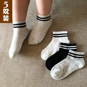 夏季儿童袜子带网眼纯棉透气短袜