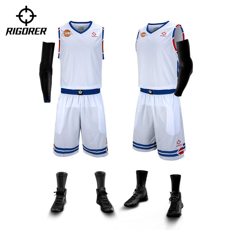 热销10件假一赔三cuba赞助款准者新款篮球服套装球衣