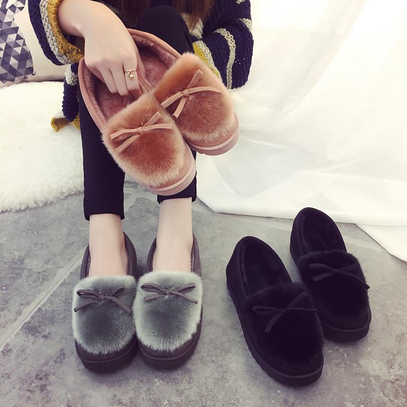 家居冬天外穿中学生秋冬款棉拖鞋软底办公室棉鞋女月子室内大码加