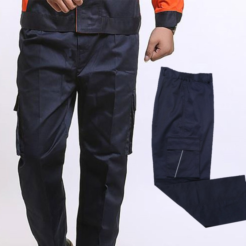 Labor protection pants factory work clothes summer mens trousers are more loose and repairmen can carry mens work clothes in summer