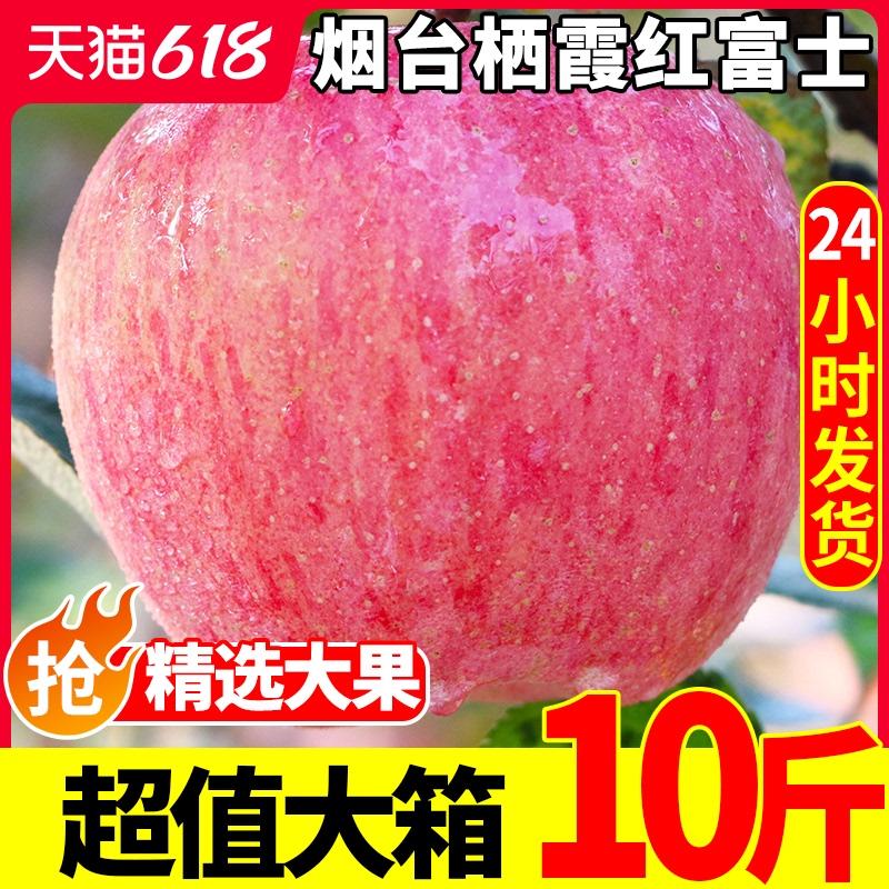 苹果水果10斤新鲜当季烟台红富士一整箱批应季脆甜冰糖心丑苹果脆