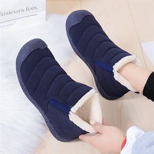 雪地靴女2021年秋冬新款加绒保暖一脚蹬冬棉鞋短靴子百搭防水鞋子