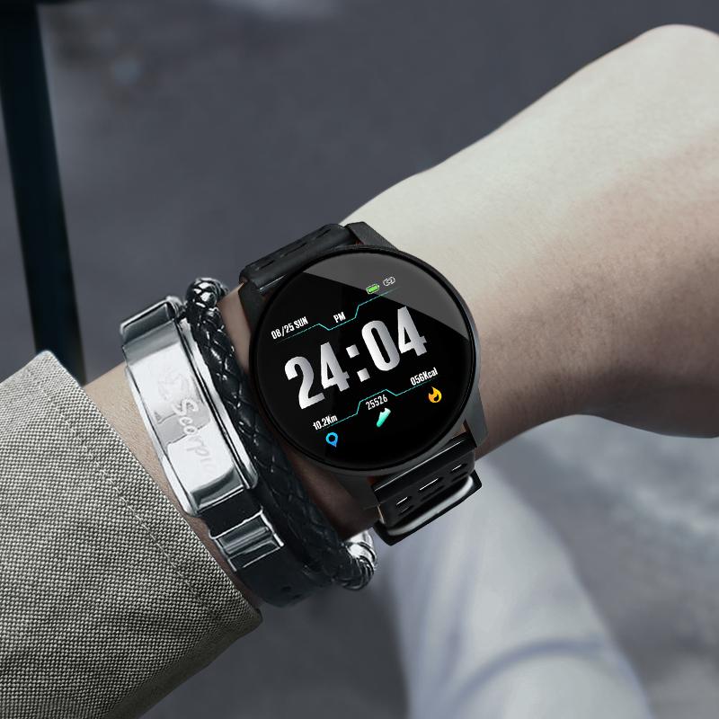 手表男学生潮流多功能计步测血压手环女运动男士智能电子手表防水10-21新券