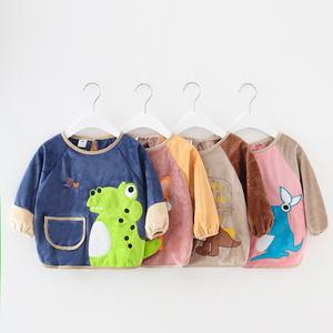 宝宝罩衣男童吃饭衣防水婴儿反穿衣冬季女孩吃饭围裙儿童护衣围兜