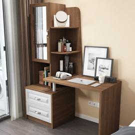 欧式书桌书柜一体桌简约现代台式电脑桌书架组合书房学习桌写字台图片