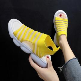 凉鞋女夏平底ins潮女士百搭2019新款夏季网红超火时尚运动沙滩鞋图片