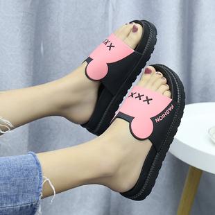 女夏家居家用室内外穿两用厚底学生可爱防滑凉拖鞋 女2020新款 拖鞋