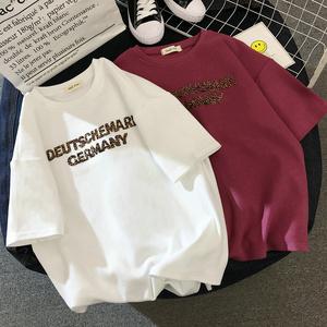 纯棉短袖2021夏季新款学生宽松t恤