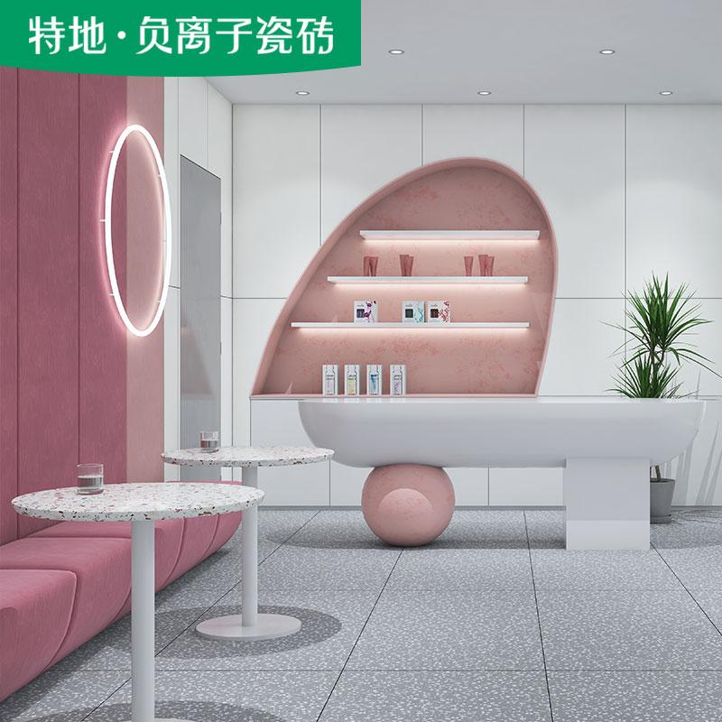 Special negative ion ceramic tile formaldehyde removing bazaar series Chanel white indoor floor tile background wall ceramic tile