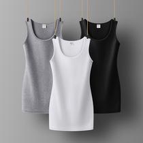 黑色中长款打底吊带背心女士内搭白色无袖长款外穿修身早春打底衫
