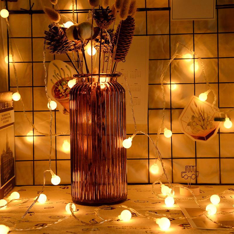 LED小灯泡彩灯闪灯串灯满天星星灯装饰宿舍圣诞网红插电款电池usb
