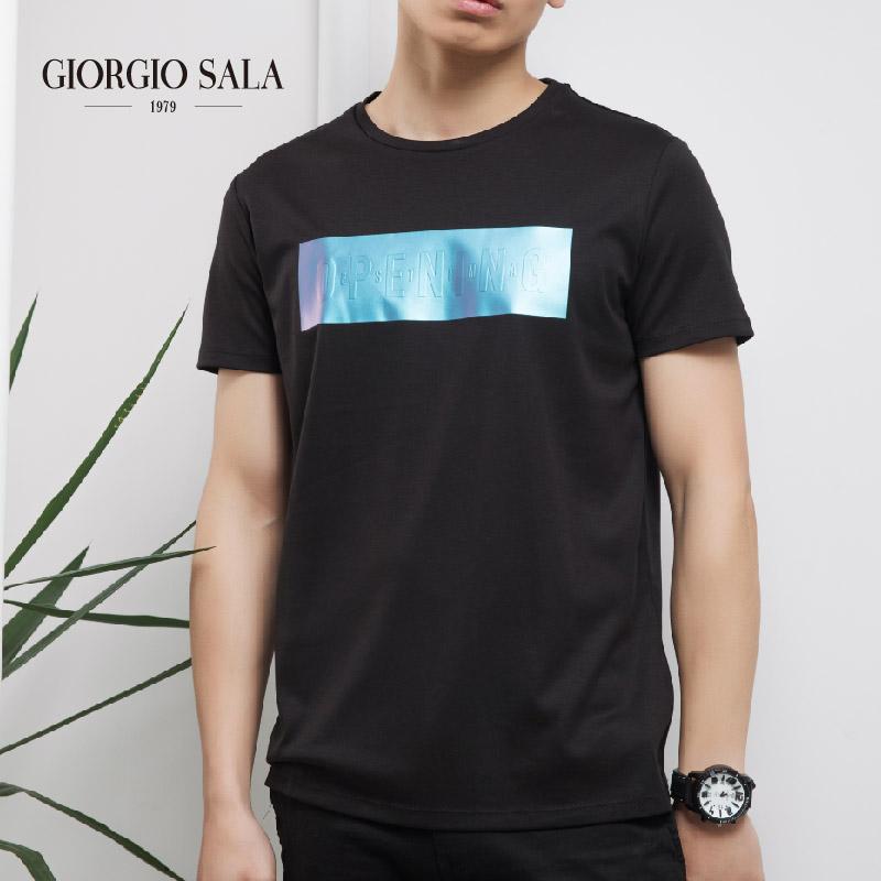 Giorgio Sala fashion printing mens fashion Korean version simple English letters mens Short Sleeve T-Shirt