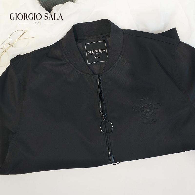 Giorgio Sala black jacket multi zipper mens autumn jacket casual long sleeve autumn winter jacket