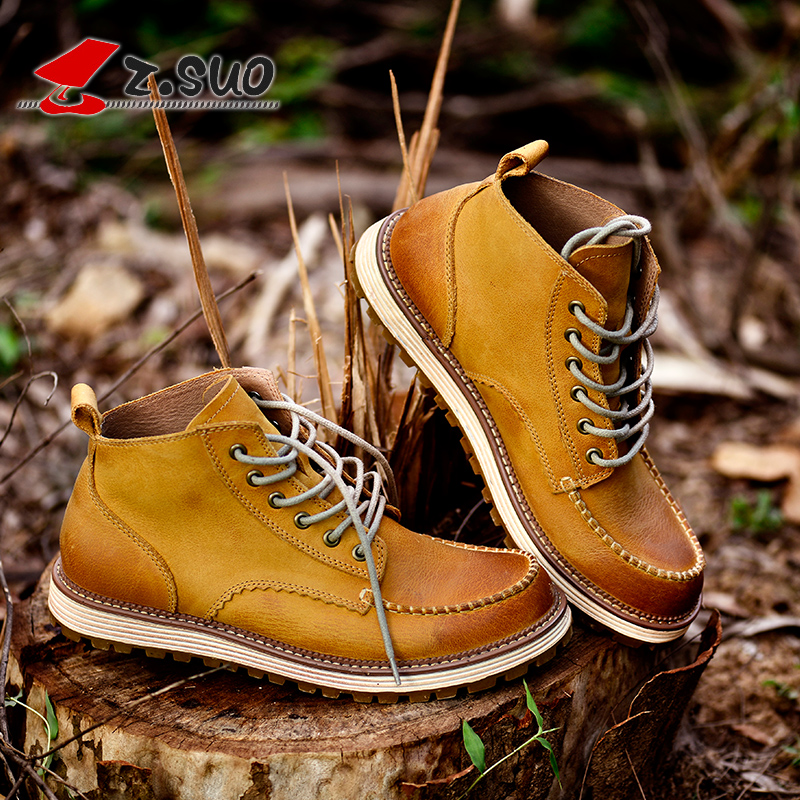 Mens shoes mens Work Boots Mens British Martin boots mens work boots outdoor leather boots fashion shoes in spring