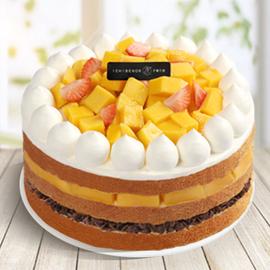 子情贝诺蛋糕同城配送新鲜水果秋意满园新品生日蛋糕图片