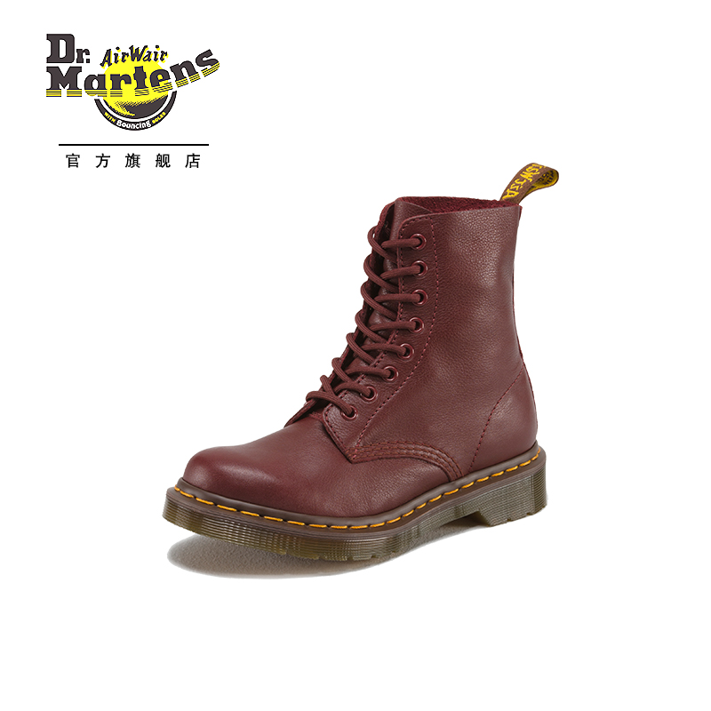 Dr. Martens Martin's classic litchi-pattern soft leather 8-hole Martin boots for women