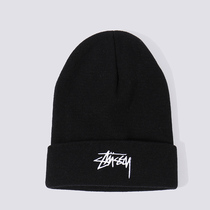 Stussy Wool hat woman 2018 autumn winter new European and American Tide brand alphabet knitted hat men and women roll warm hat