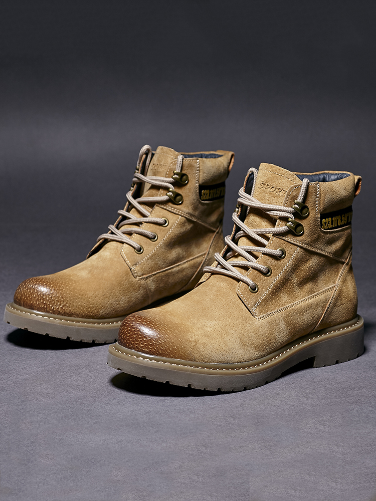 Martin boots autumn and winter leather mens English style versatile high help tooling shoes