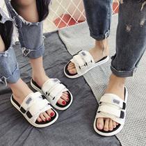 拖鞋女夏2020新款外穿时尚情侣百搭网红一字沙滩鞋平底海边凉拖鞋