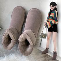 CO547DD0冬季新款英伦风单绒皮靴商场同款2020天美意女靴子短筒靴