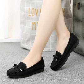 老北京布鞋女鞋旗舰店女蝴蝶结黑色工作鞋女休闲鞋驾车鞋豆豆鞋女