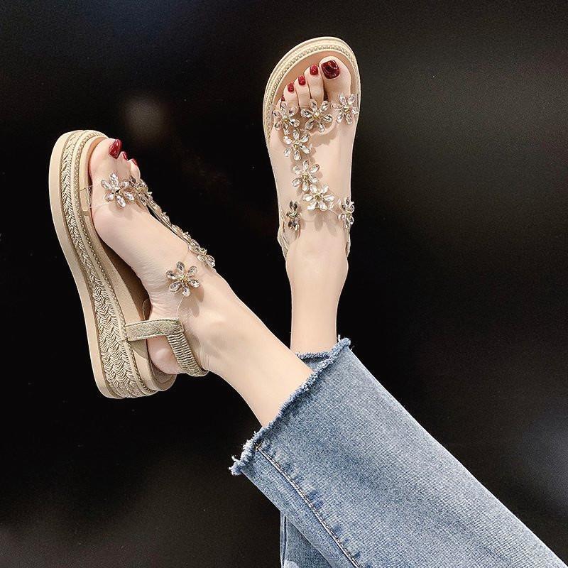 厚底2021年夏季新款韩版显瘦潮凉鞋