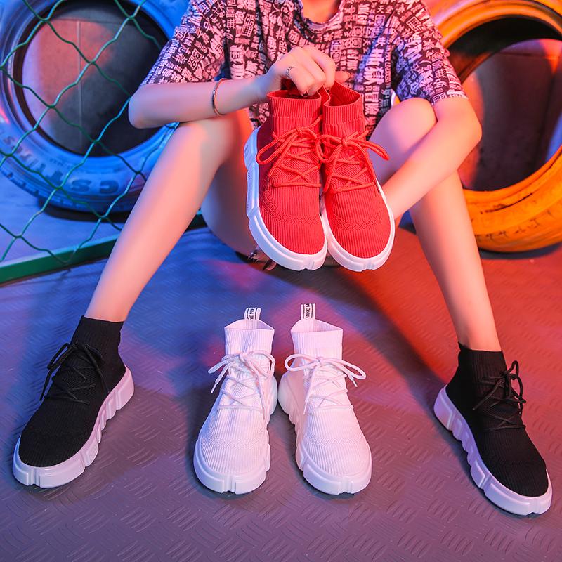 网红袜子鞋女2019春季港味流行鞋子女学生运动鞋ins百搭休闲鞋潮