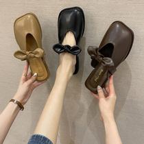 3KZC6BH1年百丽星辰夏季新款女凉拖鞋外穿水钻尖头平底穆勒鞋2021