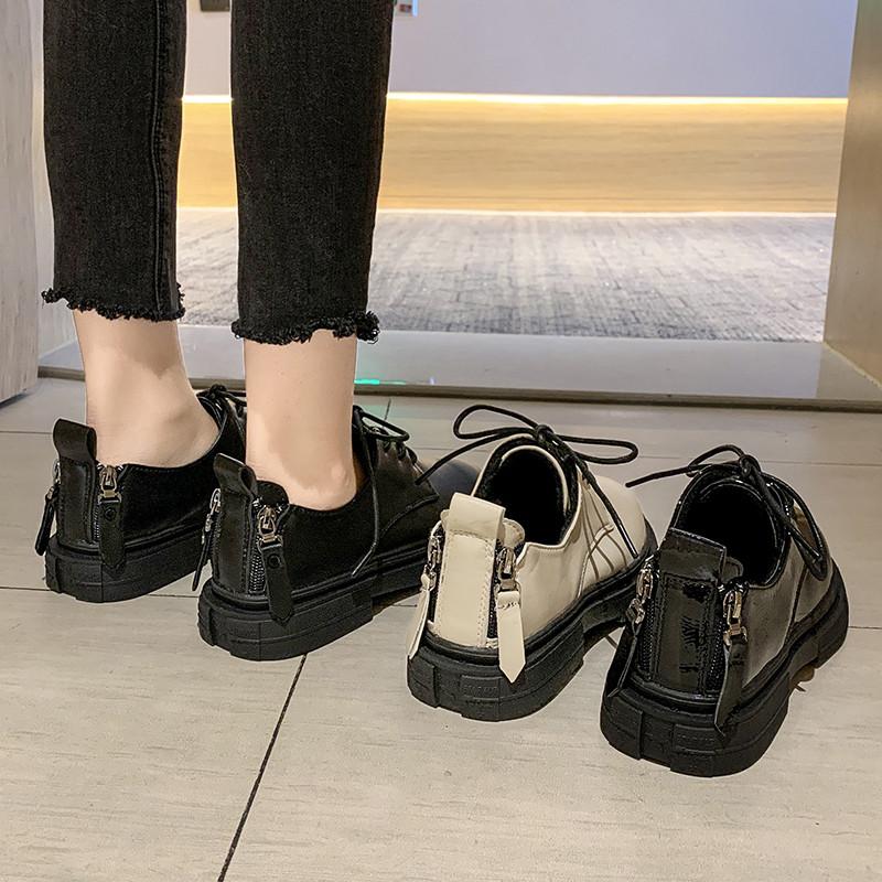 女鞋黑色小皮鞋
