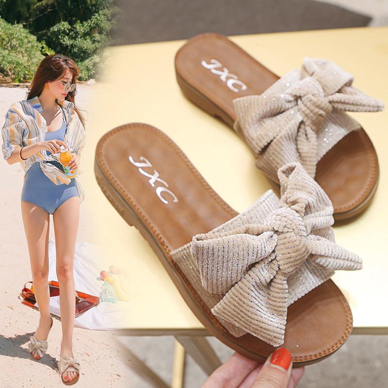 限2000张券孕妇夏天ins外穿牛筋底韩版凉拖鞋