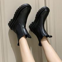 bv鞋马丁靴女潮ins夏季百搭薄款厚底英伦风短靴子中筒切尔西烟筒