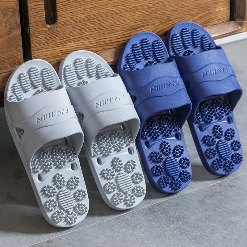足底按摩凉拖鞋男夏季情侣居家用室内浴室洗澡防滑拖鞋男外穿托鞋