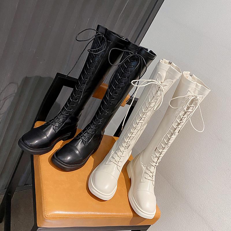 黑色长筒靴女2021新款靴子不过膝夏季薄款网红百搭高筒长靴骑士靴