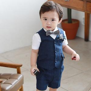 儿童西装男花童男童周岁男宝宝礼服