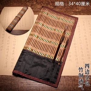 维新毛笔笔帘带口袋大号文房用品书法用品画具画材放置保护毛笔