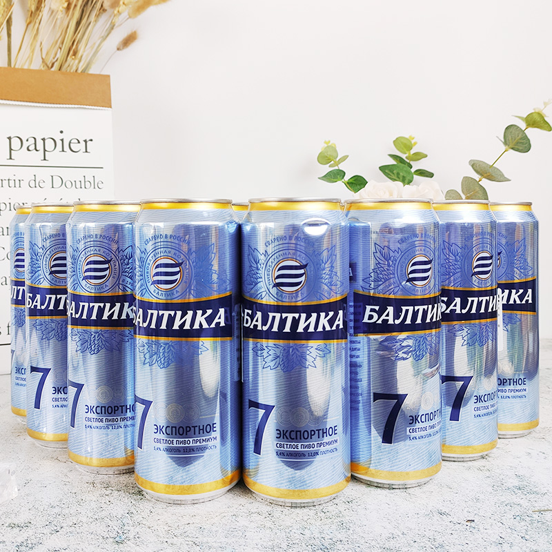 Package of 450ml * 24 cans of Baltic 7 Asian beer imported from Russia