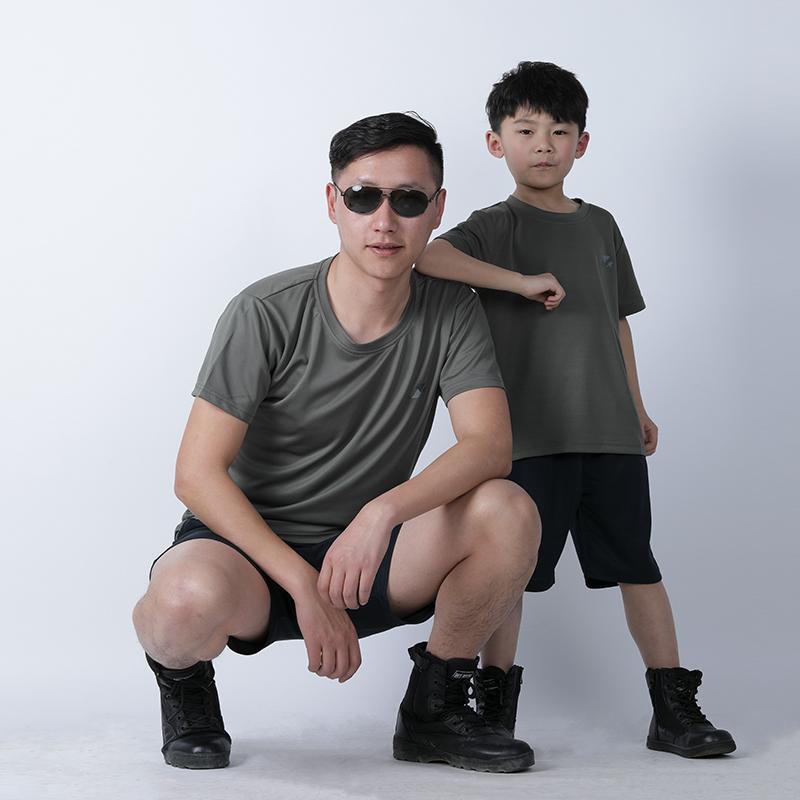 正品夏季07体能训练服套装男女特种兵军训服速干短袖圆领迷彩t恤