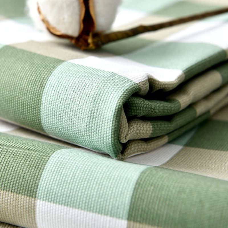 棉麻亚麻帆布学生宿舍加厚单人纯棉老粗布床单凉席布料单件三件套