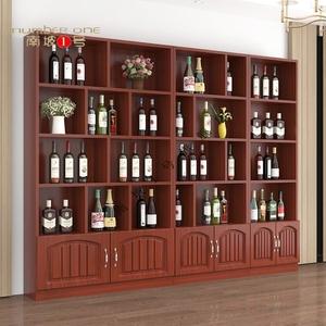 欧式带门红酒商用酒架茶叶货架烟柜