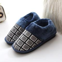 冬季毛毛拖鞋男士加绒保暖加绒棉鞋全包加厚室内情侣女烤火居家鞋