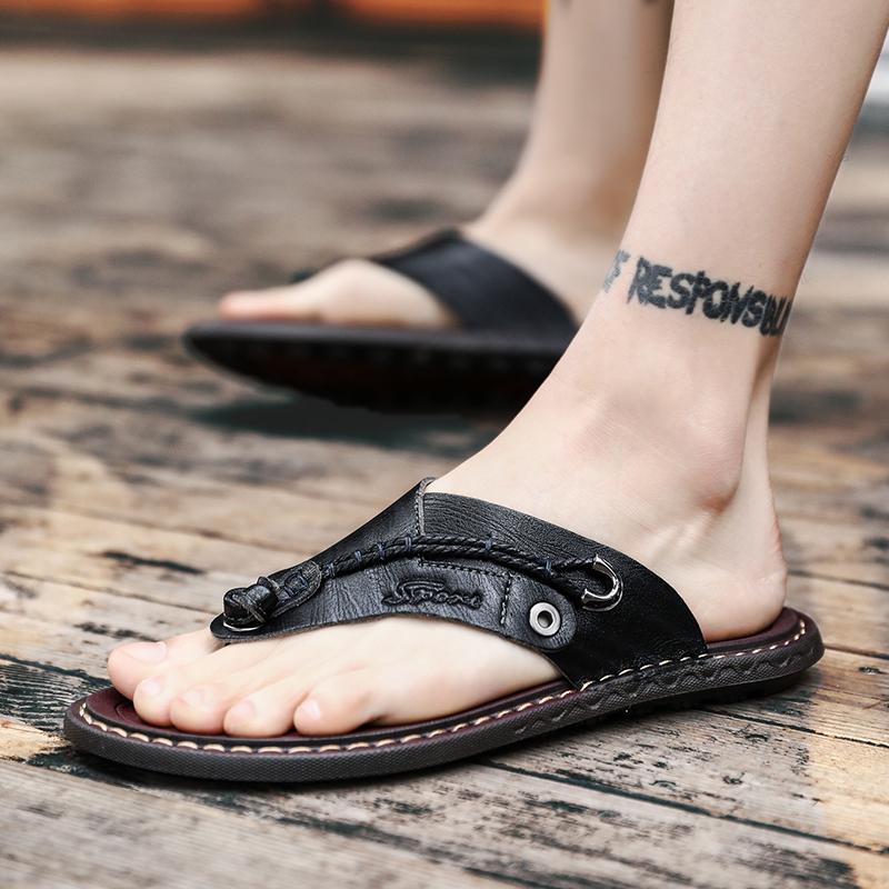 人字拖男士2018新款夏季室外凉鞋时尚外穿休闲软底个性凉拖鞋潮流