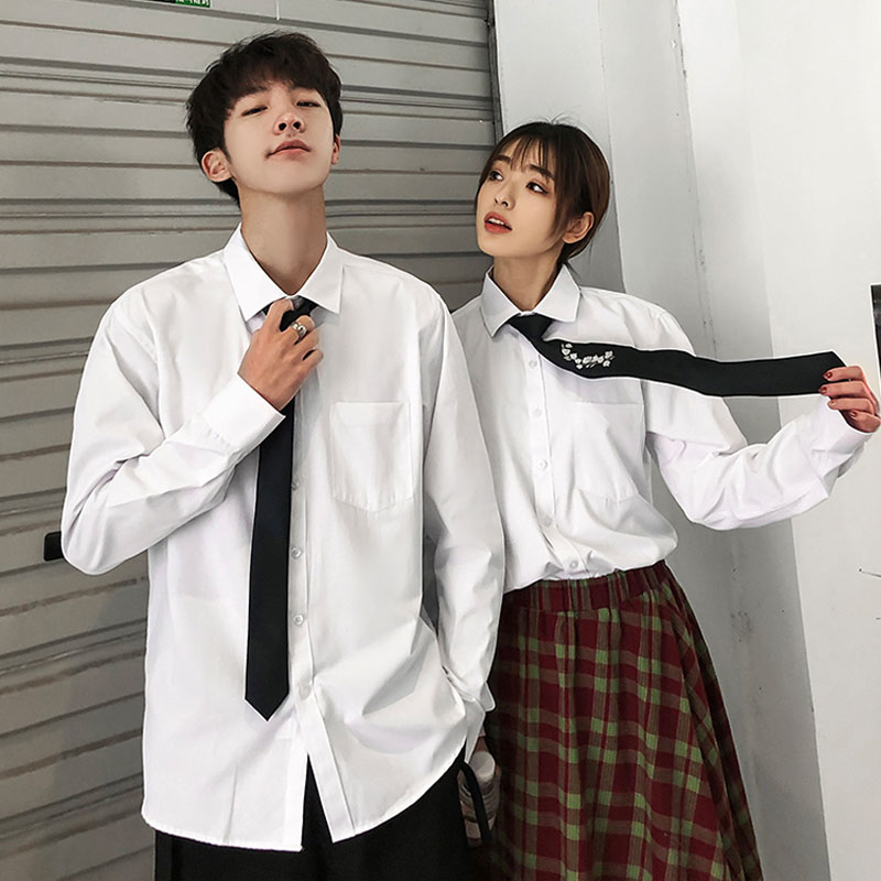 正品保证白色男士长袖韩版潮流班服学生衬衫