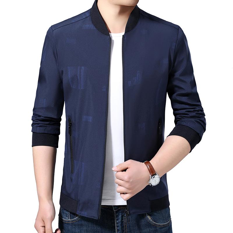 澳雷尼男士春装外套男装棒球领夹克休闲上衣薄款冬季加厚棉衣同款图片