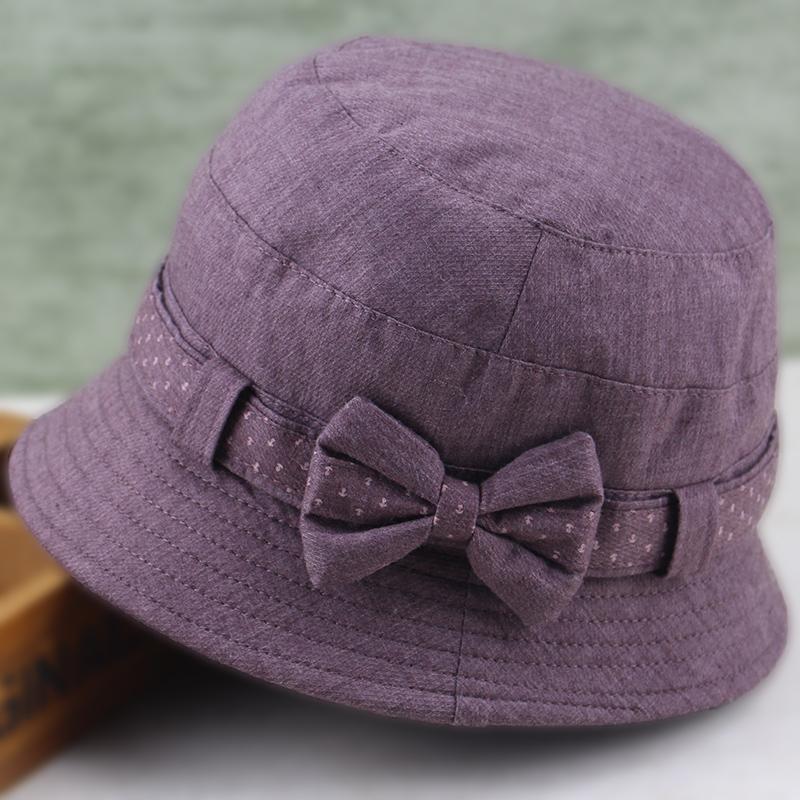 中老年女帽妈妈盆帽老年人渔夫帽休闲布帽老人帽子奶奶遮阳帽春秋