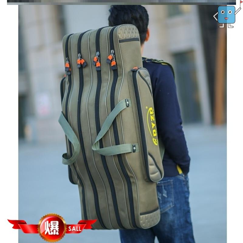 工具包帆布大加厚背包便携垂钓装备鱼竿收纳袋大肚包包鱼杆大容量