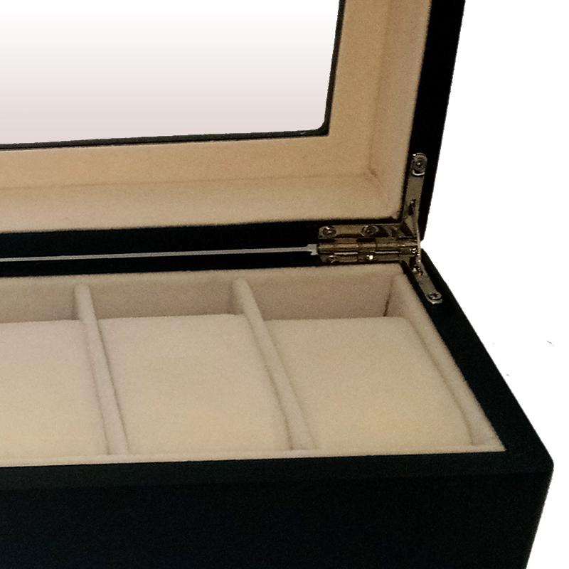 Boutique 6-bit jewelry box wooden watch box Bracelet storage box wrist watch gift skylight display box hand