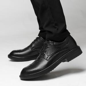 鳄鱼纹皮鞋小码36男士镂空男鞋37真皮商务正装春夏季透气凉休闲鞋