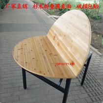 大圓桌面10人15人20人2米2.2米家用餐桌杉木折疊實木酒店圓形臺面